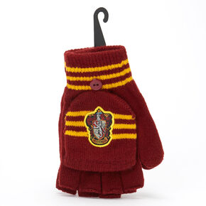 Harry Potter™ Gryffindor Fingerless Gloves with Mitten Flap – Burgundy,