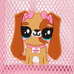 Puppy Wire Pencil Holder - Pink,