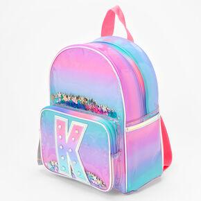 Ombre Shaker Initial Mini Backpack - K,