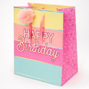Medium Happy Birthday Gift Bag - Pink,