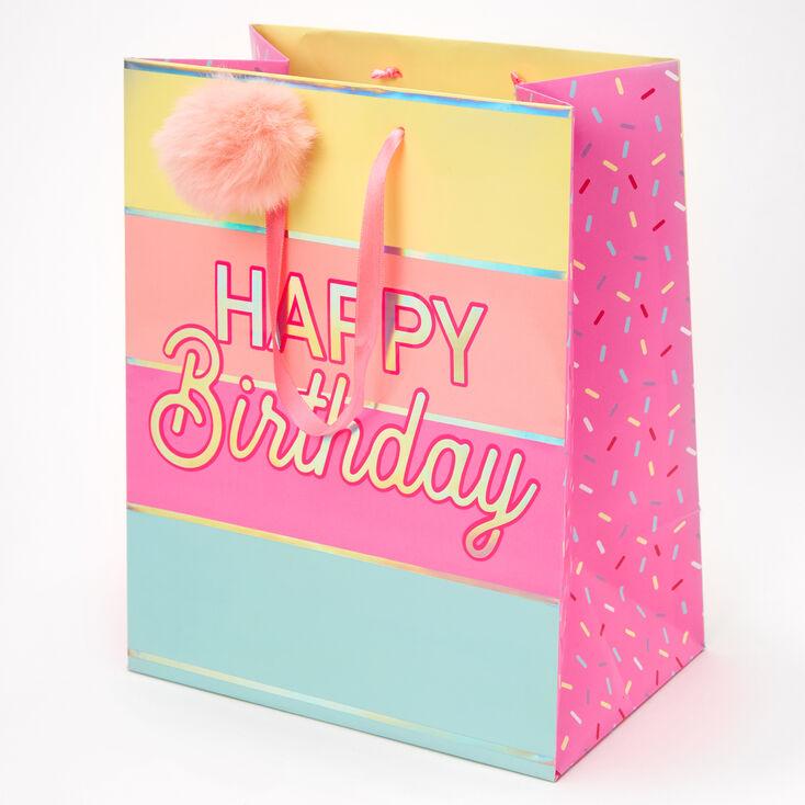 Medium Happy Birthday Gift Bag - Pink,