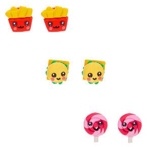Fast Food Stud Earrings - 3 Pack,