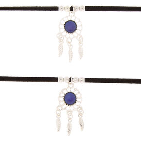 Best Friends Mood Dreamcatcher Choker Necklaces - 2 Pack,
