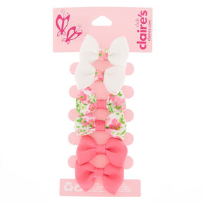 fd4d9c2cf1884 Claire s Club Bow Hair Clips - Pink