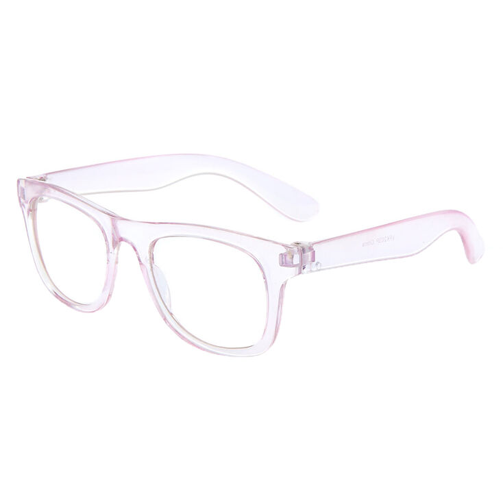 Claire's Club Iridescent Retro Clear Lens Frames,