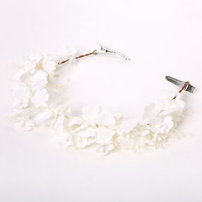 Mini Flower Hair Swag - White,
