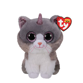 Ty Beanie Boo Small Asher the Cat With Horn Soft Toy,