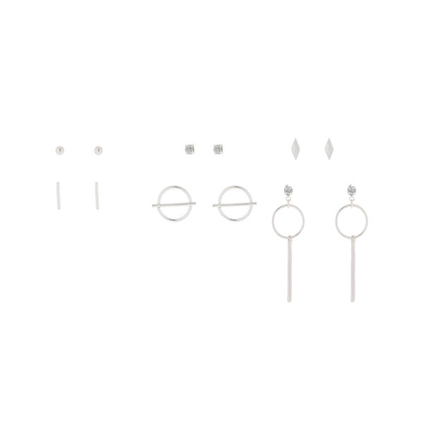Claire's - delicate geometric stud earring set - 1
