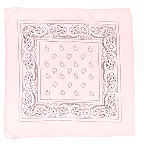 Claire's Club Paisley Bandana Headwrap - Light Pink,