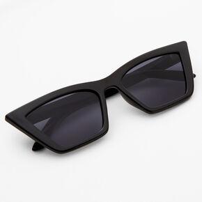 Square Retro Cat Eye Sunglasses - Black,