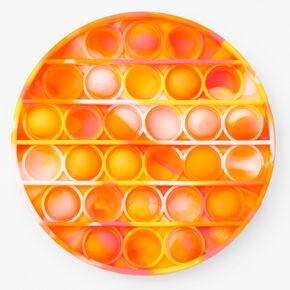 Pop Poppers Tie Dye Circle Fidget Toy - Orange,