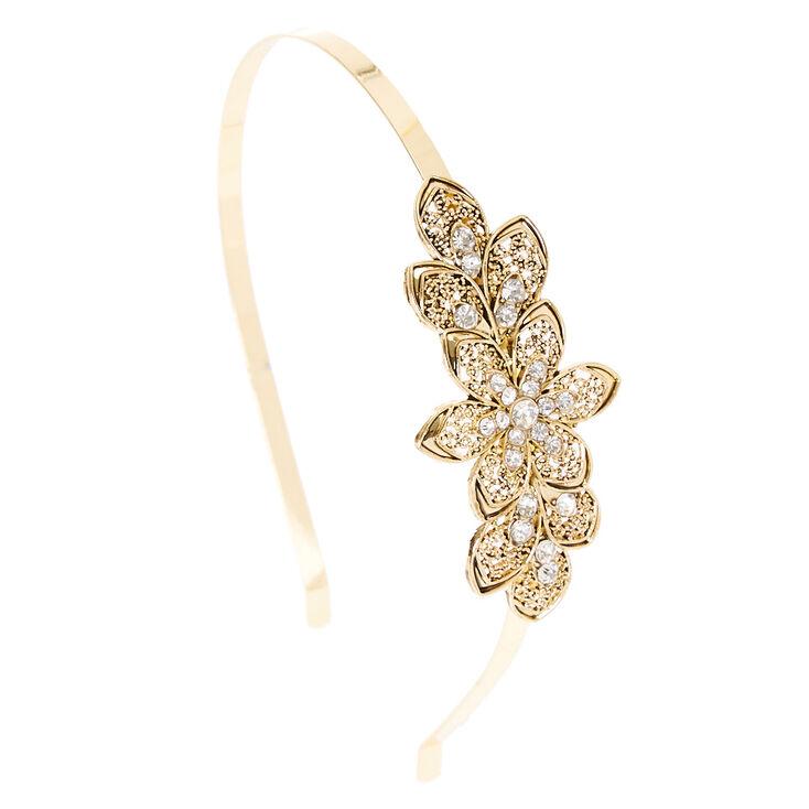 Gold Crystal Flower Headband  896a1c10e22
