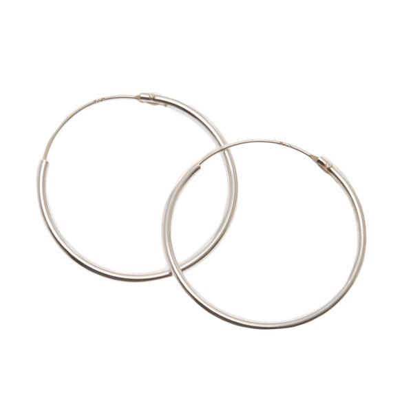 Claire's - sterling 20mm hoop earrings - 1