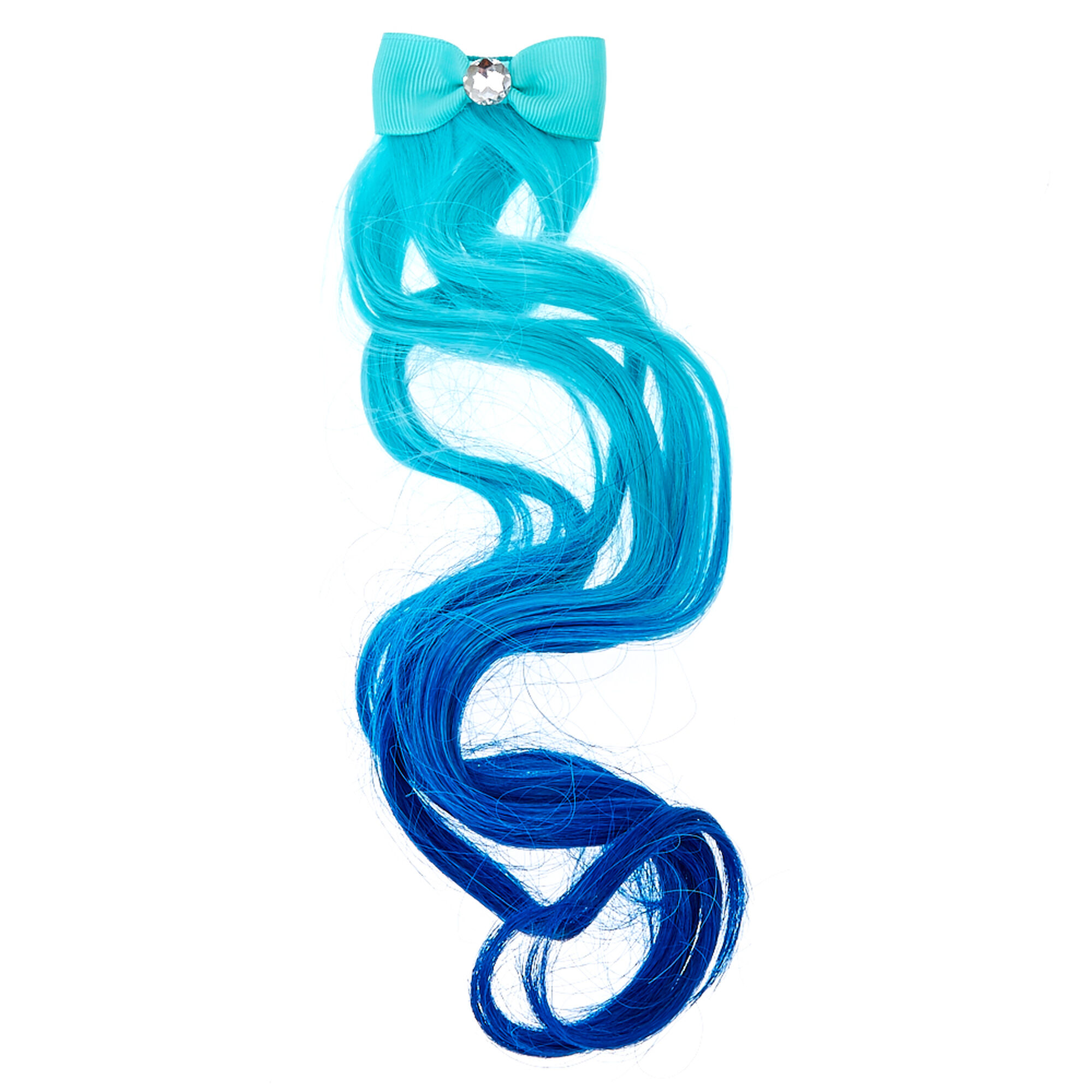 Kids Mint Blue Ombre Faux Hair Extension Claires Us