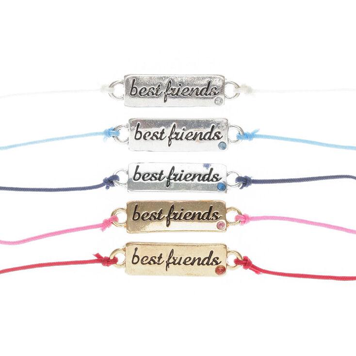 Gold Plate Adjustable Friendship Bracelets - 5 Pack,