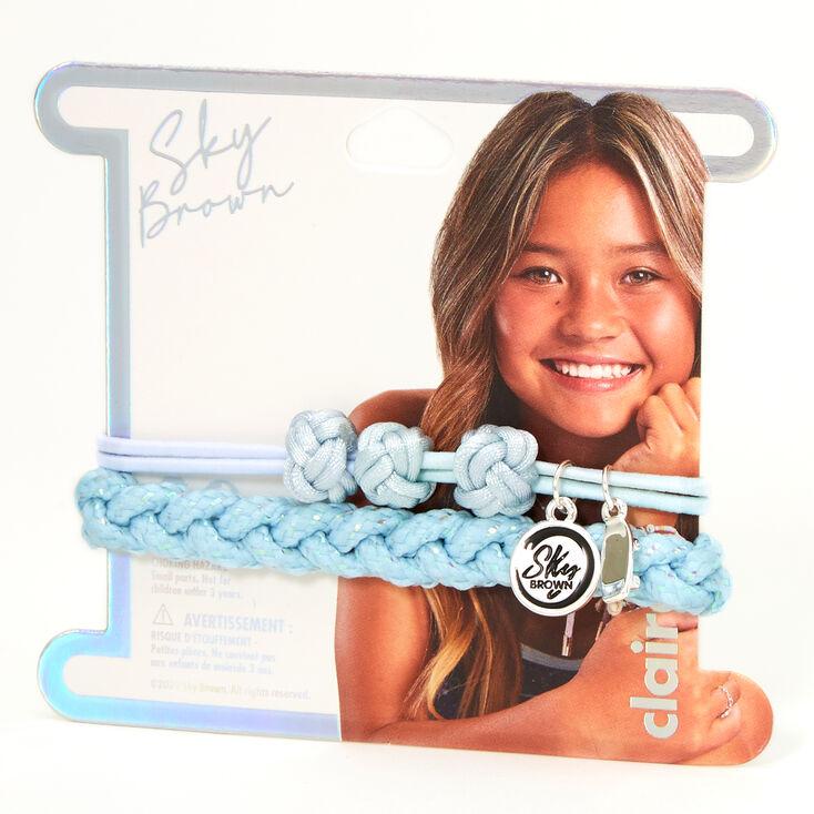 Bracelets tressés réglables Sky Brown™ - Bleu, lot de 2,