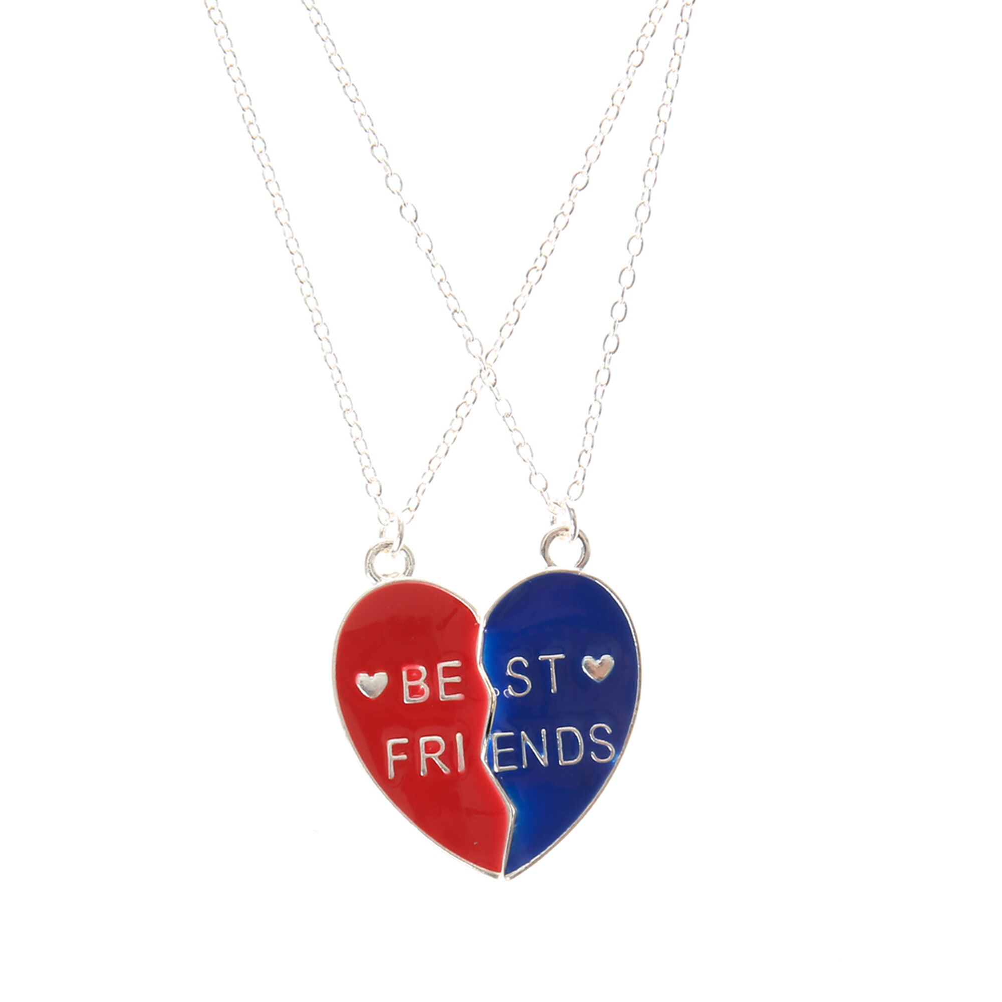 store double necklace red heart