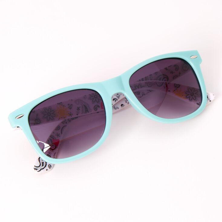 Retro Summer Paisley Sunglasses - Mint,