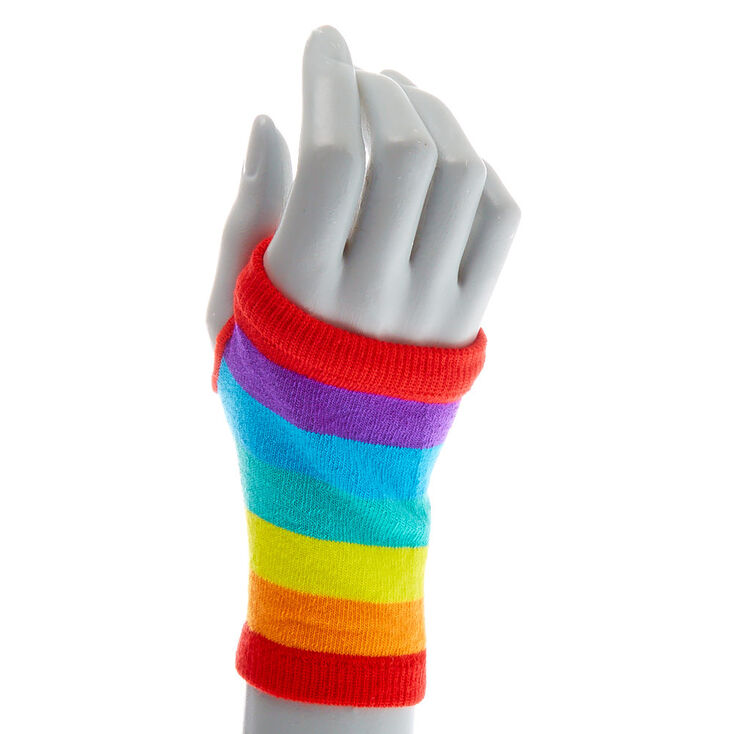 Rainbow Striped Short Arm Warmers,