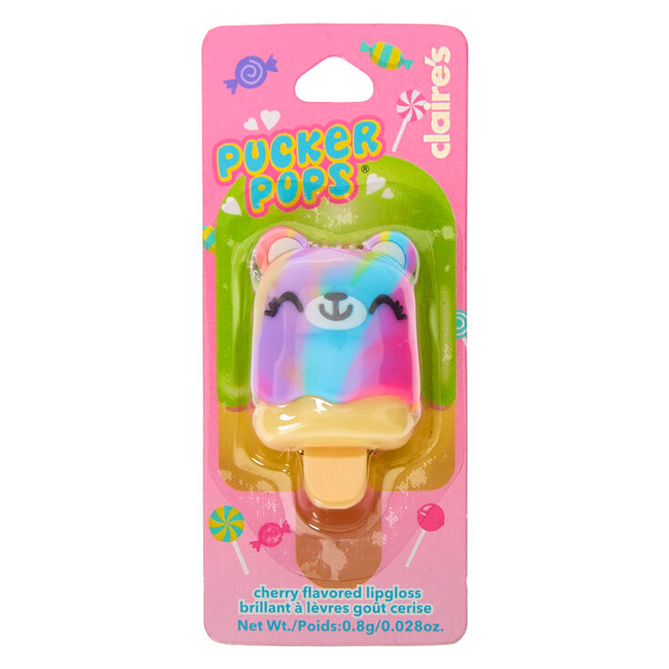 Pucker Pops Rainbow Bear Lip Gloss - Cherry,