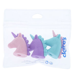Pastel Unicorn Head Erasers - 3 Pack,