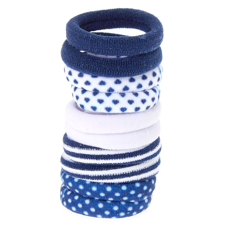 Claire's Club Hair Bobbles - Navy, 10 Pack,