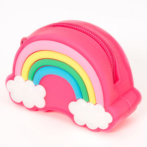 Rainbow Jelly Coin Purse - Pink,