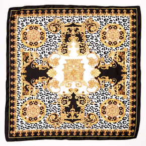 Fancy Leopard Bandana Headwrap - Black,