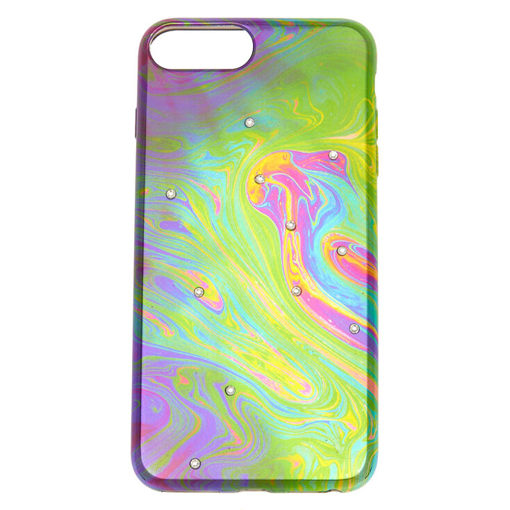 Oil Slick Stone Studded Phone Case Fits Iphone 6 7 8 Plus