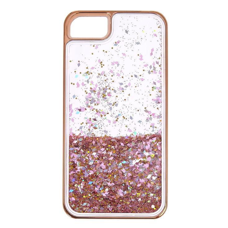 size 40 4094a f19c4 Rose Gold-Tone Liquid Filled Glitter Phone Case