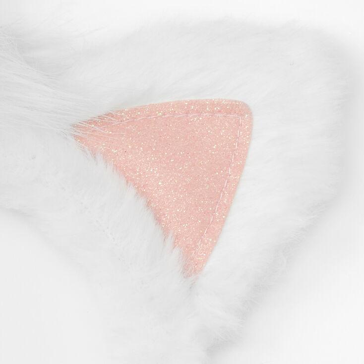 Claire's Club Unicorn Headband & Mask Set - White, 2 Pack,