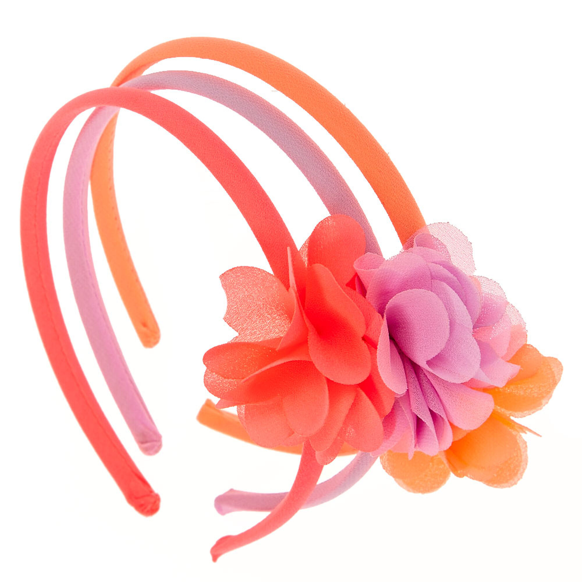 Kids Pink Purple Flower Headband 3 Pack Claires