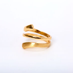 Gold Sleek Twisted Ring,