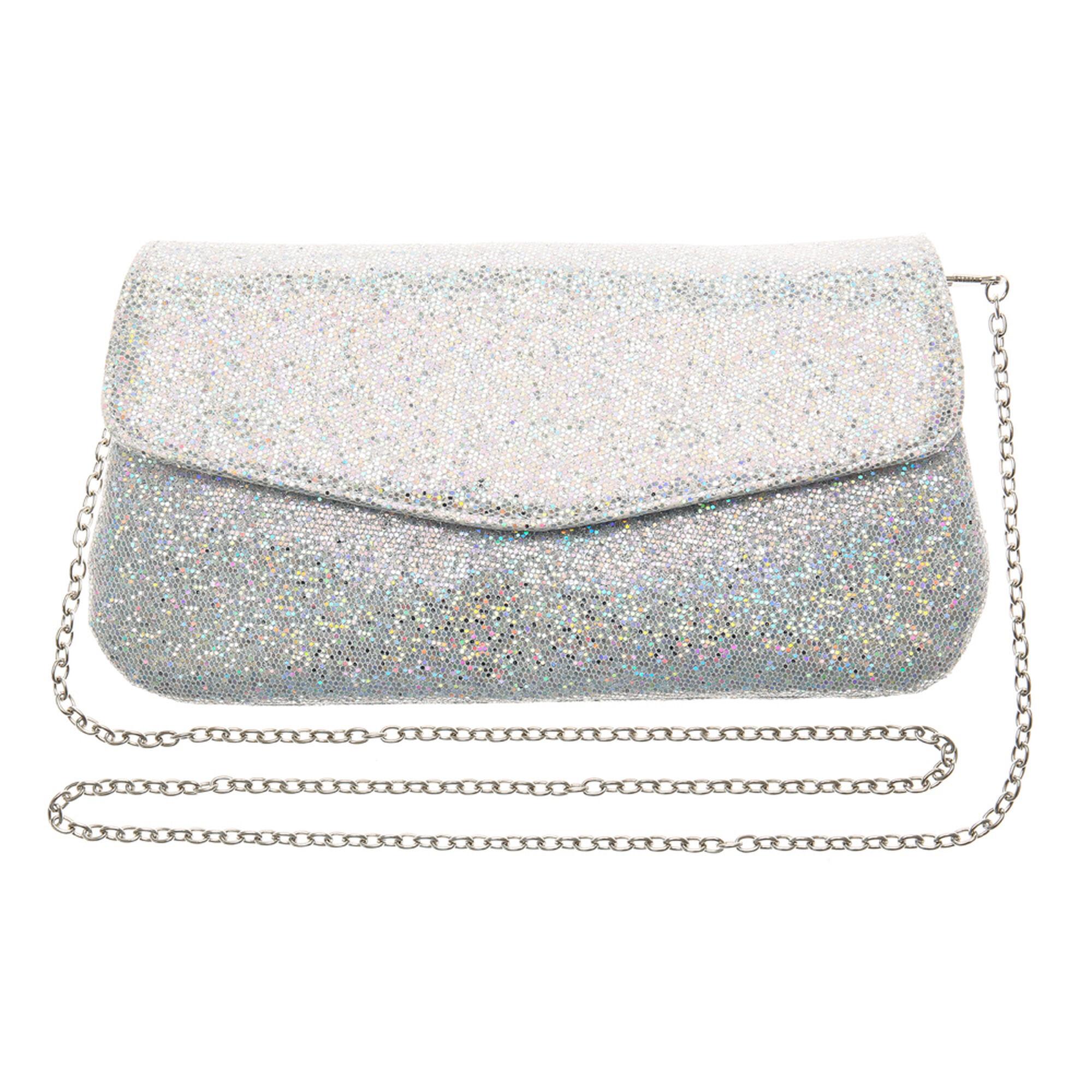 Sparkling Silver Silvers: Silver Glitter Clutch