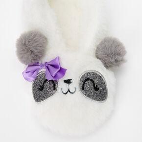 Furry Panda Slippers - S/M,