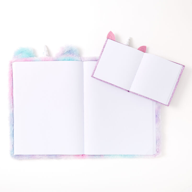 Pastel Tie Dye Unicorn Plush Sketchbook Set - 2 Pack,
