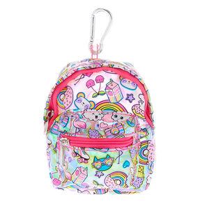 Rainbow Emoticon Mini Backpack Keychain - Pink 7b30c681d4e3f