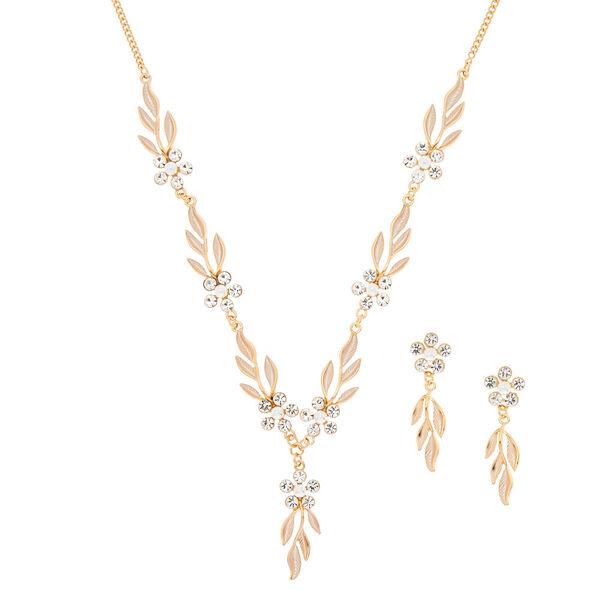 Claire's - floral vine jewelry set - 1