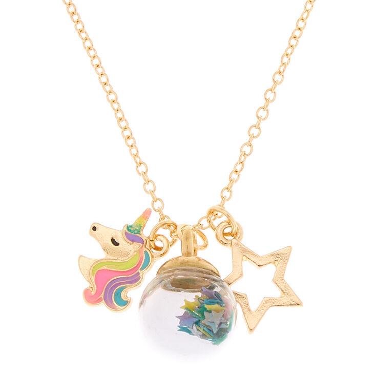 67a5f0e7c80c5 Gold Magic Confetti Charm Pendant Necklace