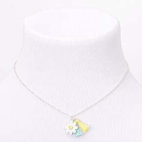 Parure de bijoux avec pompons marguerites vert menthe et jaunes Claire'sClub,