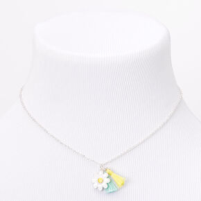 Claire's Club Mint & Yellow Daisy Tassel Jewellery Set,