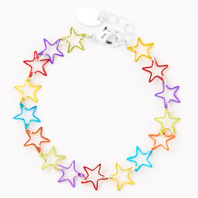 Rainbow Chrome Star Bracelet,
