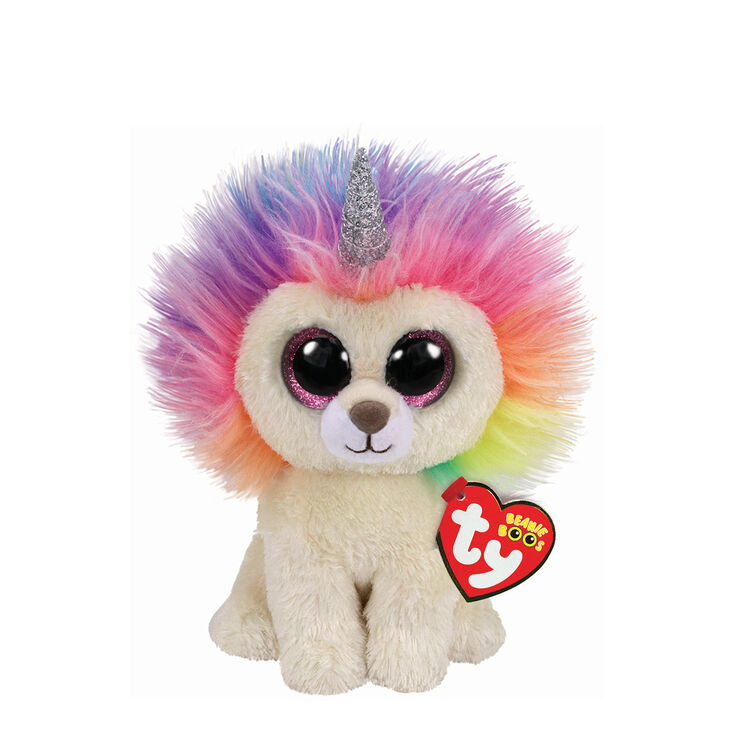 Ty Beanie Boo Small Layla the Rainbow Lion Plush Toy  7a8f342b4ea