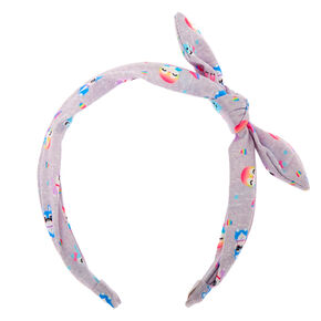 Cuddle Club Critter Knotted Bow Headband - Grey,