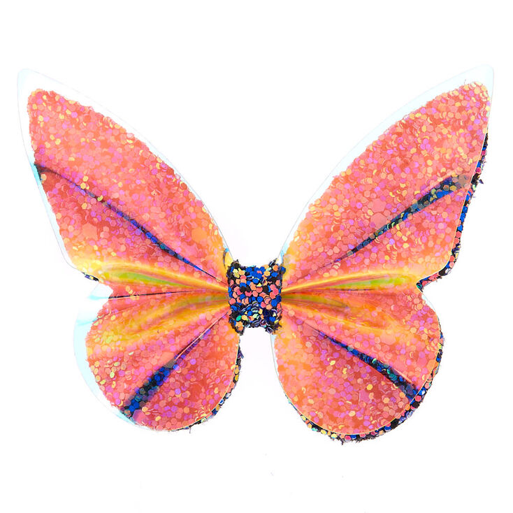 Holographic Glitter Butterfly Hair Clip,