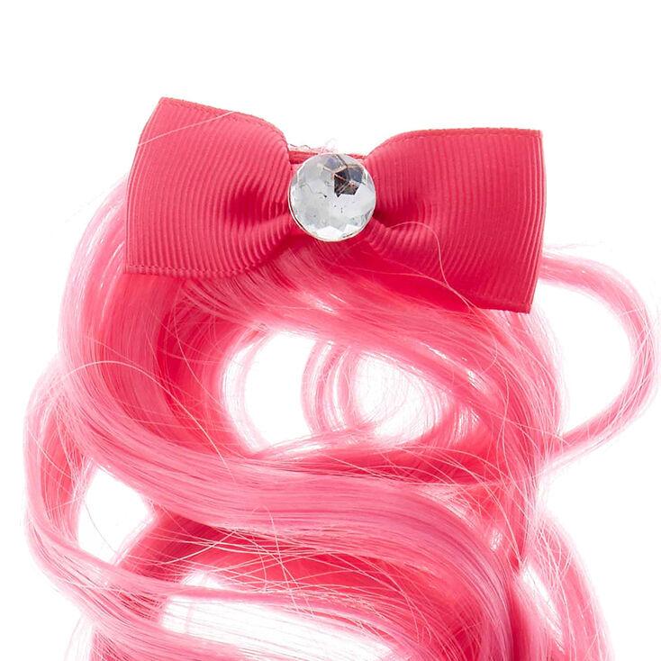 Claire's Club Faux Hair Clip - Pink,