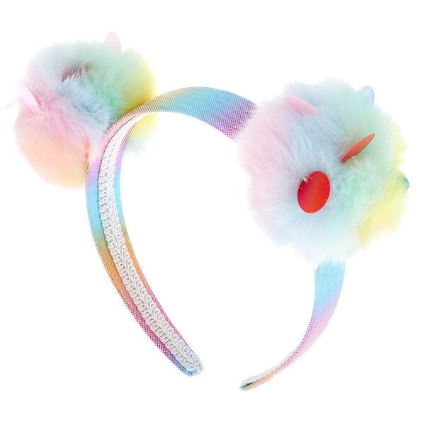 Claire's - sequin pastel pom headband - 1