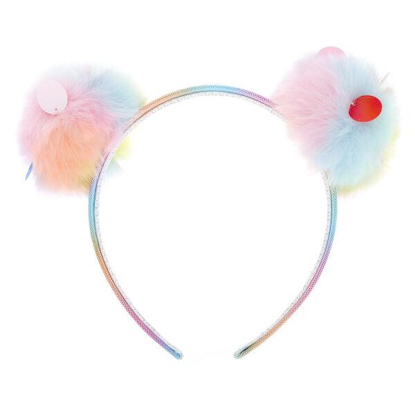 Claire's - sequin pastel pom headband - 2