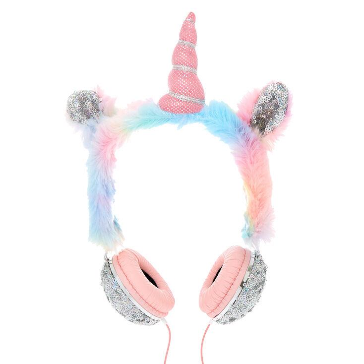 Rainbow Sequin Unicorn Headphones,