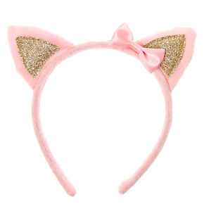 Claire's Club Soft Cat Ears Headband - Pink,